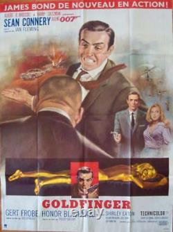 JAMES BOND GOLDFINGER French Grande movie poster 47x63 SEAN CONNERY R72