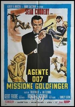JAMES BOND GOLDFINGER Original Movie Poster 39x55 2Sh Italian SEAN CONNERY 007