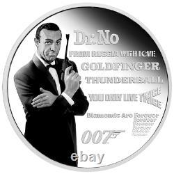 JAMES BOND LEGACY SEAN CONNERY 2021 TUVALU 1oz SILVER COIN PF70 UC FR
