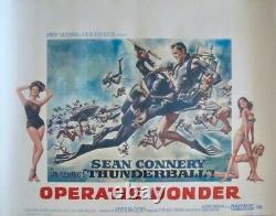 JAMES BOND THUNDERBALL Belgian movie poster Flemmish R72 SEAN CONNERY NM