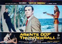 JAMES BOND THUNDERBALL Italian fotobusta movie poster 5 SEAN CONNERY 1965
