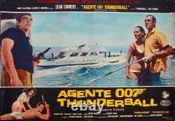 JAMES BOND THUNDERBALL Italian fotobusta movie poster set x11 SEAN CONNERY 1965