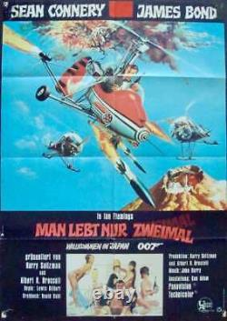 JAMES BOND YOU ONLY LIVE TWICE German A1 movie poster SEAN CONNERY 1967 RARE