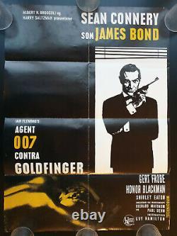 James Bond 007 Goldfinger Original Danish Poster 1964 Sean Connery Vintage Rare