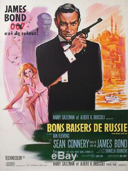 James Bond 007 Sean Connery Bons Baisers De Russie French Movies Poster