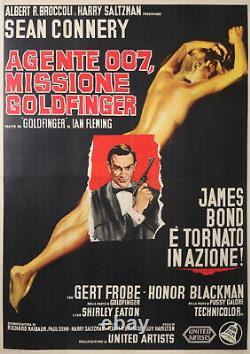 James Bond 007 Sean Connery Missione Goldfinger Original Italian Movies Poster