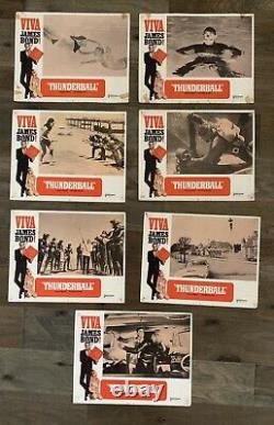 James Bond 007 THUNDERBALL 7 rare vintage lobby cards 1965 SEAN CONNERY