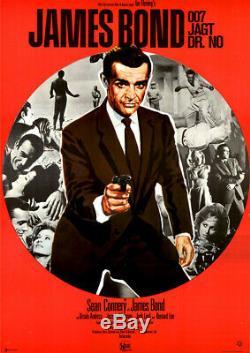 James Bond 007 jagt Dr. No ORIGINAL A1 Kinoplakat Sean Connery / Ursula Andress