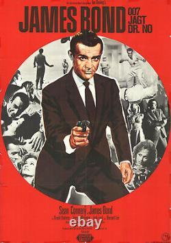 James Bond 007 jagt Dr. No ORIGINAL Kinoplakat Sean Connery / SCHLECHTER ZUSTAND