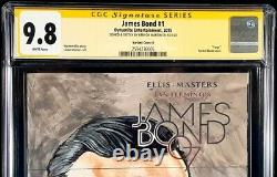 James Bond #1 Cgc Ss 9.8 Sean Connery Original Art Sketch 007 Spy Goldfinger