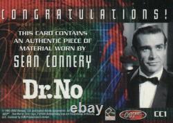 James Bond 40th Anniversary Sean Connery Costume Card CC1