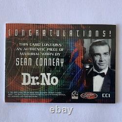 James Bond 40th Anniversary Sean Connery Costume Card CC1 Dr. No Free Shipping