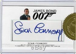 James Bond Archives 2017 Final Edition Sean Connery Cut Autograph James Bond