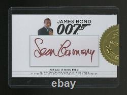 James Bond Archives Final Edition Sean Connery Autographed card