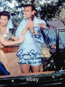 James Bond Autographs Sean Connery & Eunice Gayson Hand Signed 10x8 Photo