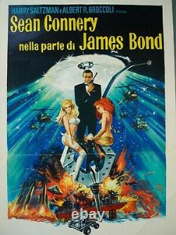 James Bond DIAMONDS ARE FOREVER Poster Authentic 1971 SEAN CONNERY