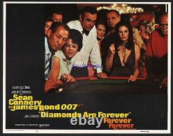 James Bond Diamonds Are Forever Complete Set Of U. S. Lobby Cards Sean Connery