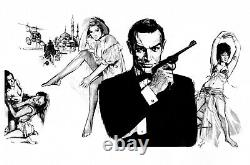 James Bond From Russia With Love Sean Connery Original Art Tim Grayson Sketch