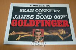 James Bond Oo7 Sean Connery Goldfinger 1964 Original French Poster Pre Release