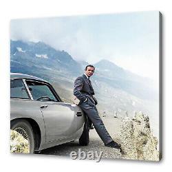 James Bond Sean Connery Alps Aston Martin canvas print picture wall art