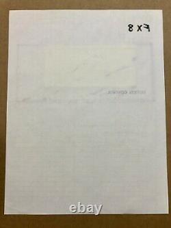 James Bond Sean Connery Original Film Production sketch Storyboard! Prop Signed