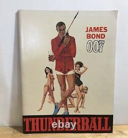 James Bond THUNDERBALL vintage movie souvenir book 007 BOND GIRLS Sean Connery