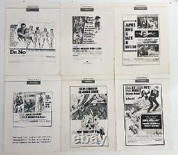James Bond The 6 first Original PRESSBOOKS Oversized Sean Connery