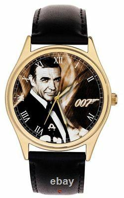 Klassische James Bond 007 Original Sean Connery Kunst Sammler Messing Armbanduhr