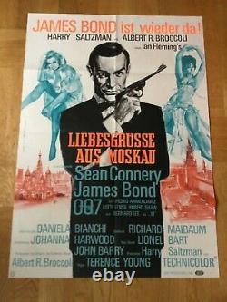 Liebesgrüße aus Moskau James Bond 007 (Erstauff. Plakat'63) Sean Connery