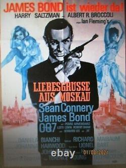 Liebesgrüße aus Moskau James Bond 007 Sean Connery A1 EA Filmplakat von 1963
