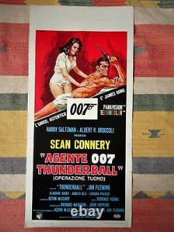 Locandina AGENTE 007 THUNDERBALL 1'Edizione 1965 James Bond SEAN CONNERY Poster