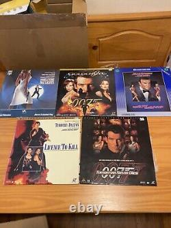 Lot of 17 James Bond 007 Laserdisc LD Sean Connery Roger Moore Dalton