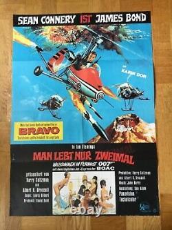 Man lebt nur zweimal James Bond 007 (Pl.'67) Sean Connery / Hubschrauber-Motiv