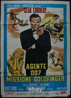 Manifesto 2FG JAMES BOND 007 MISSIONE GOLDFINGER SEAN CONNERY BLACKMAN FLEMING