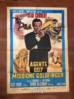 Manifesto, POSTER 2F. AGENTE 007 MISSIONE GOLDFINGER SEAN CONNERY JAMES BOND