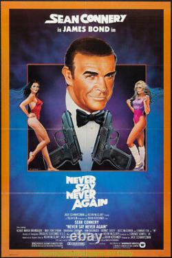 NEVER SAY NEVER AGAIN MOVIE POSTER 27x41 Folded N. Mint SEAN CONNERY JAMES BOND