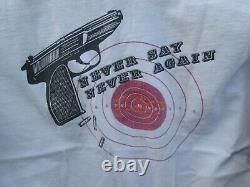 NEVER SAY NEVER AGAIN Vintage SEAN CONNERY 007 James Bond SP FX Film Crew Shirt