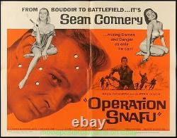 OPERATION SNAFU MOVIE POSTER Fld Half Sheet 22x28 JAMES BOND'S SEAN CONNERY 1965