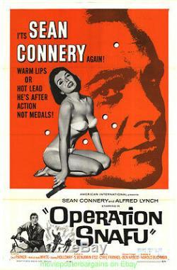 OPERATION SNAFU MOVIE POSTER Original Folded27x41 JAMES BOND'S SEAN CONNERY 1965