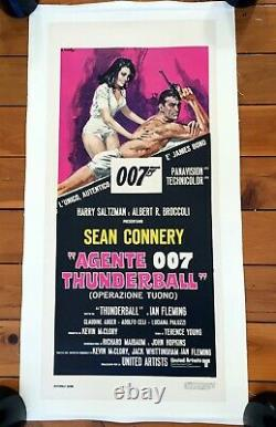 ORIGINAL THUNDERBALL Italian movie poster James Bond LINEN BACKED Sean Connery