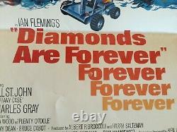 Original DIAMONDS ARE FOREVER 1971 INSERT Poster Sean Connery James Bond 007