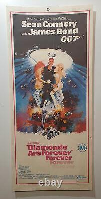 Original Daybill Movie Poster- Diamonds Are Forever Sean Connery James Bond 007
