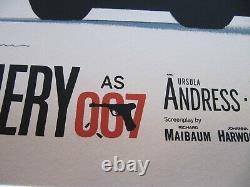 Paul Mann Dr. No Signed AP Poster Print James Bond 007 Mondo Artist Sean Connery