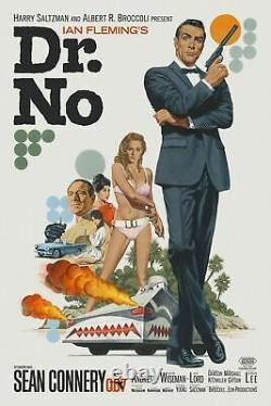 Paul Mann JAMES BOND DR NO Poster Movie Print 007 Mondo Sean Connery RARE x/143