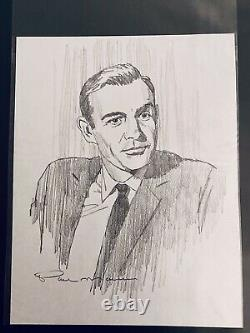 Paul Mann Sean Connery JAMES BOND Girls Movie Poster And Original Sketch Mondo