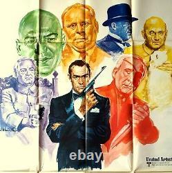 Poster Italian Movie Memorabilia All Against James Bond Sean Connery 007 Spy Gun