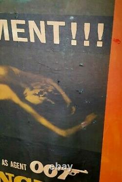 Poster on board James Bond 007 in GOLDFINGER 1964 40x60 CARD STOCK Sean Connery