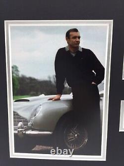 RARE Sean Connery James Bond Signed Photo Display + COA AUTOGRAPH 007