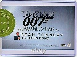 Rittenhouse James Bond 007 Sean Connery Incentive Cut Autograph Auto Signed