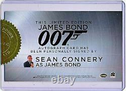 Rittenhouse James Bond 007 Sean Connery Inscription Cut Autograph Auto Signed